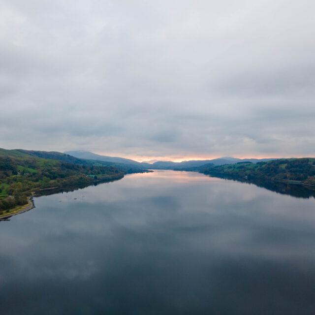 Bala lake aerial photo